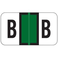 "Jeter 7200 Compatible Alpha Labels, Letter ""B"",  Laminated Stock, 15/16&#34 X 1-5/8&#34 Indi..."