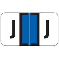 "Jeter 7200 Compatible Alpha Labels, Letter ""J"",  Laminated Stock, 15/16&#34 X 1-5/8&#34 Indi..."