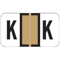 "Jeter 7200 Compatible Alpha Labels, Letter ""K"",  Laminated Stock, 15/16&#34 X 1-5/8&#34 Indi..."