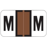 "Jeter 7200 Compatible Alpha Labels, Letter ""M"",  Laminated Stock, 15/16&#34 X 1-5/8&#34 Indi..."