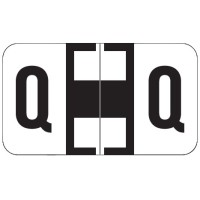 "Jeter 7200 Compatible Alpha Labels, Letter ""Q"",  Laminated Stock, 15/16&#34 X 1-5/8&#34 Indi..."