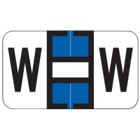 "Jeter 7200 Compatible Alpha Labels, Letter ""W"",  Laminated Stock, 15/16&#34 X 1-5/8&#34 Indi..."
