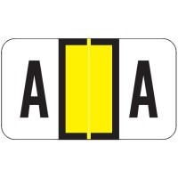 "POS Compatible Alpha Labels, Letter ""A"", Laminated Stock, 15/16"" X 1-5/8"" Individual L..."