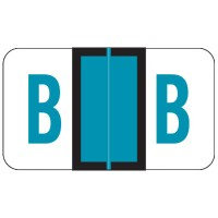 "POS Compatible Alpha Labels, Letter ""B"", Laminated Stock, 15/16"" X 1-5/8"" Individual L..."