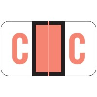 "POS Compatible Alpha Labels, Letter ""C"", Laminated Stock, 15/16"" X 1-5/8"" Individual L..."