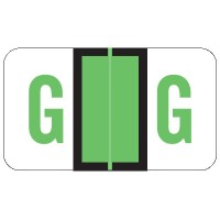 "POS Compatible Alpha Labels, Letter ""G"", Laminated Stock, 15/16"" X 1-5/8"" Individual L..."