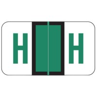 "POS Compatible Alpha Labels, Letter ""H"", Laminated Stock, 15/16"" X 1-5/8"" Individual L..."