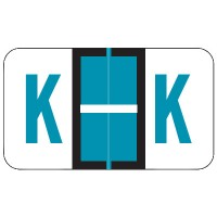 "POS Compatible Alpha Labels, Letter ""K"", Laminated Stock, 15/16"" X 1-5/8"" Individual L..."