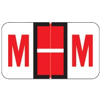 "POS Compatible Alpha Labels, Letter ""M"", Laminated Stock, 15/16"" X 1-5/8"" Individual L..."