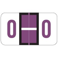 "POS Compatible Alpha Labels, Letter ""O"", Laminated Stock, 15/16"" X 1-5/8"" Individual L..."