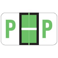 "POS Compatible Alpha Labels, Letter ""P"", Laminated Stock, 15/16"" X 1-5/8"" Individual L..."