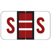 "POS Compatible Alpha Labels, Letter ""S"", Laminated Stock, 15/16"" X 1-5/8"" Individual L..."