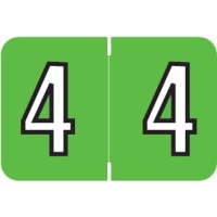 "Barkley NBKM Compatible Numeric Labels, Number ""4"", Laminated Stock, 1"" X 1-1/2"" Indiv..."