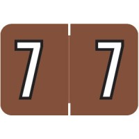 "Barkley NBKM Compatible Numeric Labels, Number ""7"", Laminated Stock, 1"" X 1-1/2"" Indiv..."