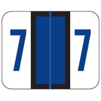"Smead BCCRN Compatible Numeric Labels, Number ""7"" Laminated Stock, 1"" X 1.25"" Individual Num..."