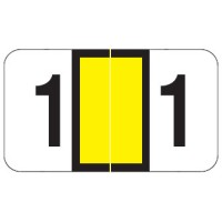 "POS 3500 Compatible Numeric Labels, Number ""1"", Laminated Stock, 15/16"" X 1-5/8"" Indiv..."