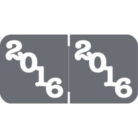 Gray 2016 Year Labels, Jeter Compatible