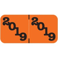 Orange 2019 Year Labels, Jeter Compatible