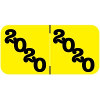 Yellow 2019 Year Labels, Jeter Compatible
