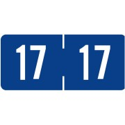 S-9228-17 - 2017 Year Labels, Blue, Tab Products Compatible, 3/4