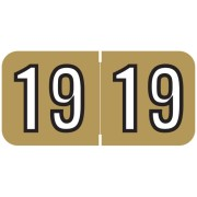 S-9229-19-B - 2019 Year Labels, Gold, Barkley Compatible, 3/4