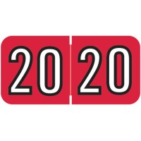 Red 2020 Year Labels, Barkley Compatible