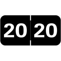 Black 2020 Year Labels, Tabbies Compatible