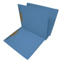 14 Pt. Blue Classification Folders, Full Cut End Tab, Letter Size, 1 Divider (Box of 25)