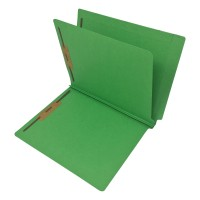 14 Pt. Green Classification Folders, Full Cut End Tab, Letter Size, 1 Divider (Box of 25)