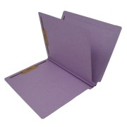 S-9239-LAV - 14 Pt. Lavender Classification Folders, Full Cut End Tab, Letter Size, 1 Divider (Box of 25)