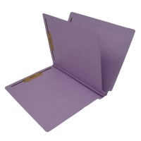 14 Pt. Lavender Classification Folders, Full Cut End Tab, Letter Size, 1 Divider (Box of 25)