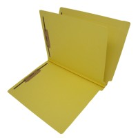 14 Pt. Yellow Classification Folders, Full Cut End Tab, Letter Size, 1 Divider (Box of 25)