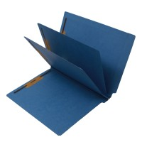14 Pt. Blue Classification Folders, Full Cut End Tab, Letter Size, 2 Dividers (Box of 15)