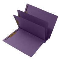 14 Pt. Lavender Classification Folders, Full Cut End Tab, Letter Size, 2 Dividers (Box of 15)