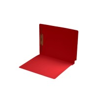 11 pt Color Folders, Full Cut End Tab, Letter Size, Fastener Pos #1, Red (Box of 50)