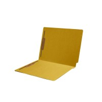 11 pt Color Folders, Full Cut Single Ply End Tab, Letter Size, Fastener Pos #1 & #3, Yellow ...