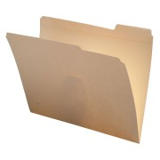 S-9264 - 14 pt Manila Folders, 1/3 Cut Top Tab - Assorted, Letter Size (Box of 50)