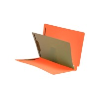 Orange End Tab Classification folder with 1 divider