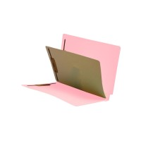 Pink End Tab Classification folder with 1 divider