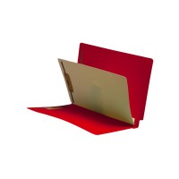 Red End Tab Classification folder with 1 divider
