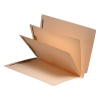 11 Pt. Manila Folders, Full Cut End Tab, Letter Size, 2 Dividers Installed (Box of 25)
