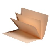 S-9304 - 14 Pt. Manila Folders, Full Cut End Tab, Letter Size, 2 Dividers Installed (Box of 25)