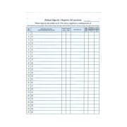 S-9355B-BIL - Patient-Sign In Sheets, HIPAA Compliant, 8-1/2