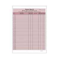 "Patient Sign-In Sheets, HIPAA Compliant, 8-1/2"" x 11"" Carbonless Form, Burgandy (7 Packs of 125)"