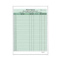 Patient Sign-In Sheets, Green