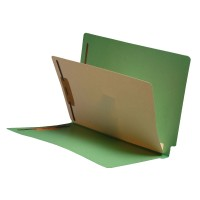 Green End Tab Classification folder with 1 divider