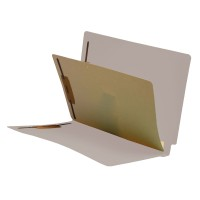 Gray End Tab Classification folder with 1 divider