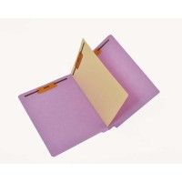 11 Pt. Color Folders, Full Cut End Tab, Letter Size, 1 Divider Installed (Box of 40)
