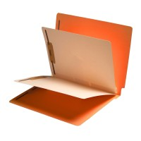 Orange End Tab Classification folder with 2 dividers