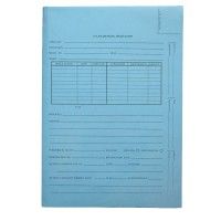 Patent and Trademark Folder, Top Tab, Blue